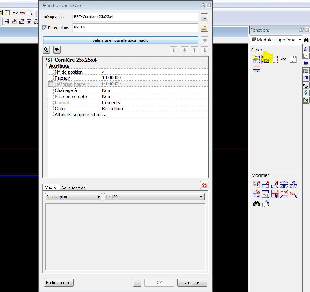 Cr er un profil m tallique 3d et le transformer en macro for Ouvre la fenetre translation